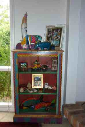 Bette's multi-colored Southwestern USA cabinet