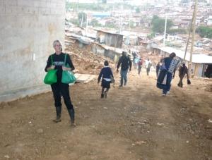 Under the overpass, Kibera