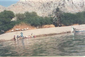 Women washing on the Indus River, Pakistan