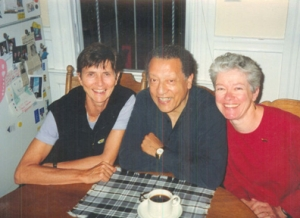 Pamela, Angel, Margaret (his wife) in their kitchen in the Mission District, San Francisco, California , probably sometime in 2000