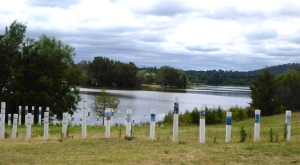 SIEV X Memorial, Lake Burley Griffin in background