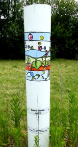 SIEV X Pole commemorating death of a child, age 2