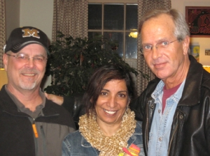 Lon Hutchison with friends Steve and Tina Boyd, Kansas City, 2011