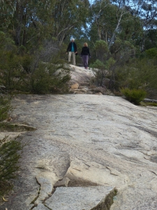 Pamela and Micki hiking Mt Tennent