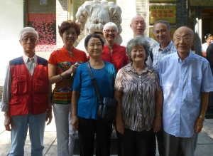 Family Luncheon Beijing, September 2015, An Ping on right, standing next to his wife Zhilan