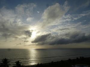 Calm sea, dawn, Tucacas, Venezuela