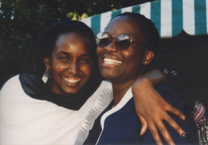 Tausi is on the left with the glasses.  Our friend Nasra is on the right.  We were in Nairobi celebrating Tausi's birthday