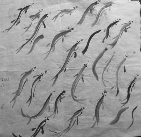 Ink Drawing fish 228