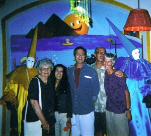 Dinner In Mazatlan, my mom Bette, Olivia, Lon, Jim, me, 2004